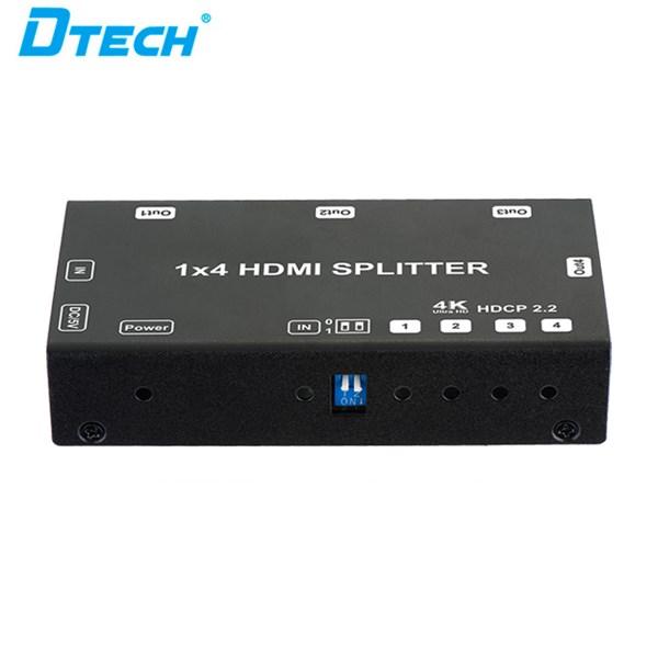 HDMI Splitter 4K  Versi 2 - 1x4 + adaptor DT-6544