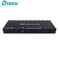 HDMI Splitter 4K Versi 2 - 1x8 + adaptor DT-6548