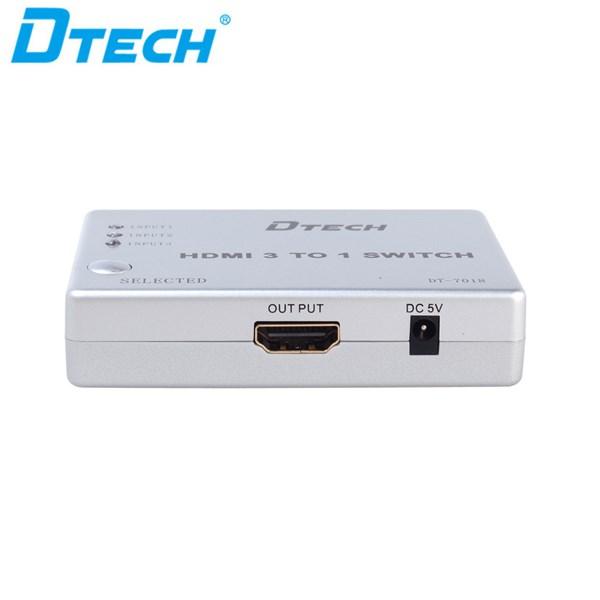 HDMI Switcher 3x1 + adaptor + remote DT-7018