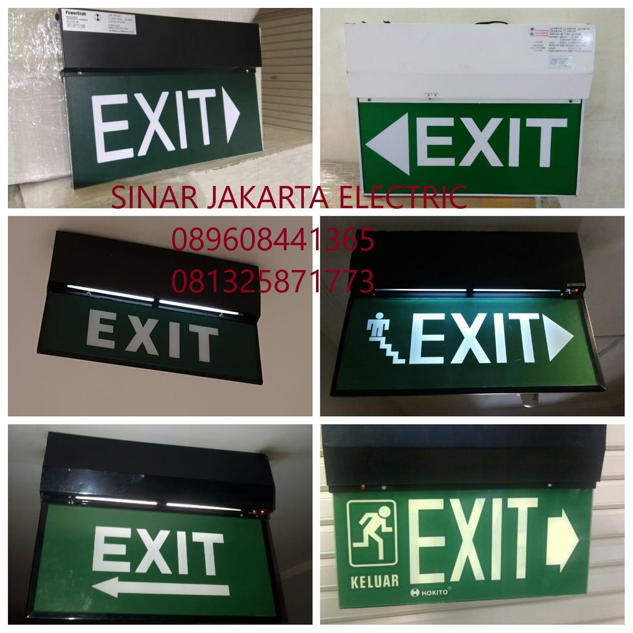 Jual Lampu Emergency Exit Gantung Harga Murah Jakarta oleh Toko Sinar Jakarta Electric