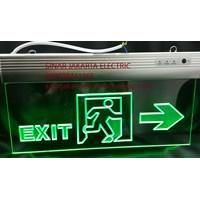 Lampu Emergency Exit Transparan