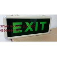 Lampu Emergency  Exit Gantung LED Kaca