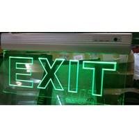 Lampu Emergency EXIT gantung LED Transparan