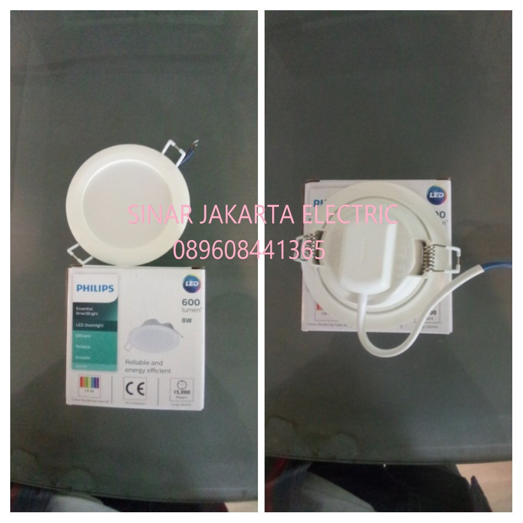 Jual Lampu Downlight Panel LED 8 Watt DN020B Philips Harga