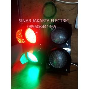 Lampu Traffic 20 cm Merah Hijau