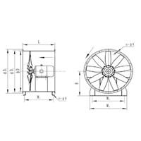 Jual Axial Fan GBOR Rotary Blade 2