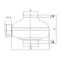 Jual In - Line Duct Fan Tipe GFIF10-25C 2