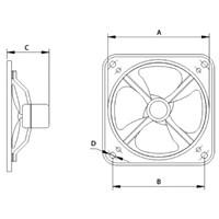 Jual Industry Ventilation Tipe GFAF-20A(8