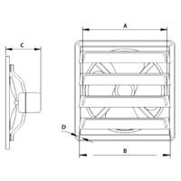 Jual Industry Ventilation Tipe GFAF-20AB(8