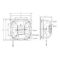 Jual Industry Ventilation Tipe GFAF-20B(8