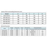 Distributor Industry Ventilation Tipe GFAF-24C(9