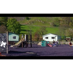 Di Tepung Karet ( RCP ) untuk lapangan Tenis, Basket dan Playground