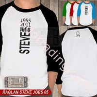 Distributor Kaos Polo Raglan Apple Ipad Iphone Ipod Mac Steve Jobs 3