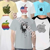 Kaos Polo Raglan Apple Ipad Iphone Ipod Mac Steve Jobs 1