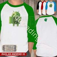 Jual Kaos Polo Raglan Android 2