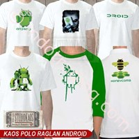 Jual Kaos Polo Raglan Android