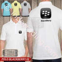 Jual Kaos Polo Raglan Blackberry 2