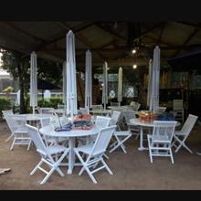 Payung Cafe Cat Putih
