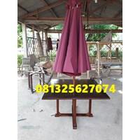 payung taman  kafe merah marun Murah 5