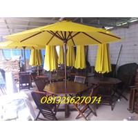 set meja payung taman