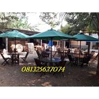 Meja kursi payung taman outdoor