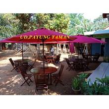 meja kursi payung taman dan tenda payung