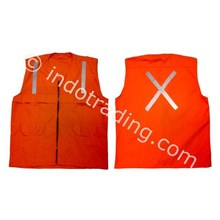 Rompi Orange Bahan Drill