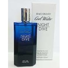 davidoff cool water man night dive tester