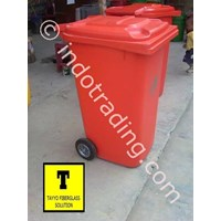 Distributor Tong Sampah Fiberglass Roda 240 Liter 3