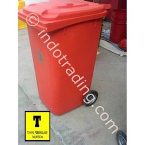 Tong Sampah Fiberglass Roda 240 Liter