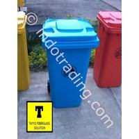 Jual Tong Sampah Fiberglass Roda 100 Liter 2