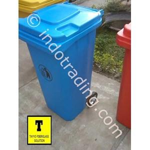 Tong Sampah Fiberglass Roda 100 Liter