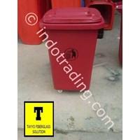Tong Sampah Fiberglass Roda 50 Liter 1