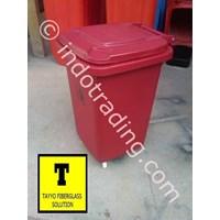 Distributor Tong Sampah Fiberglass Roda 50 Liter 3