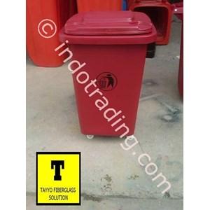 Tong Sampah Fiberglass Roda 50 Liter