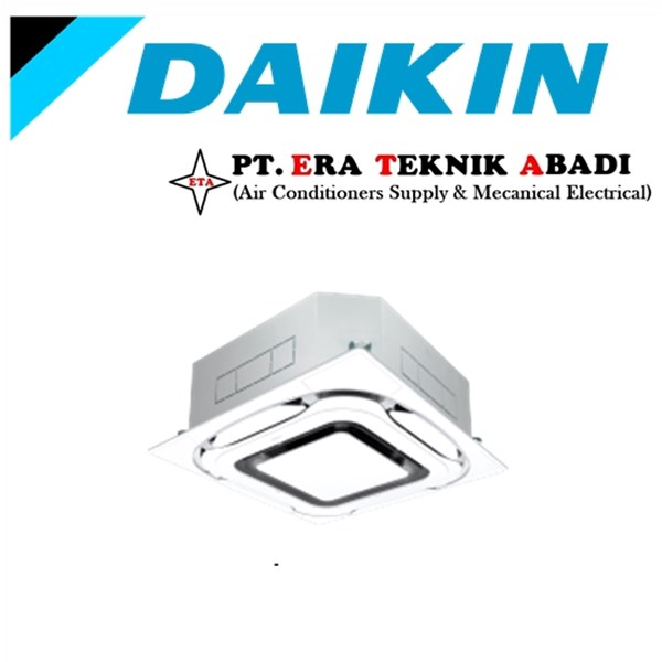 Ac Cassette Daikin Inverter 4PK 3Phase Wireless Standar Panel Putih
