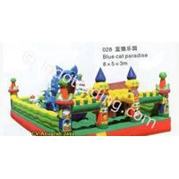 Istana Balon Blue Cat Paradise 5x8