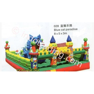 Istana Balon Blue Cat Paradise 5x8