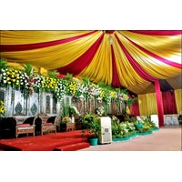 Plafon Dekor tenda - dekorasi wedding 1
