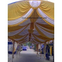 Distributor Dekorasi wedding - Plafon Dekor  tenda 3