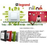 Stop kontak saklar legrand niloe Switch Sockets Dimmer Switchbell tv data telp