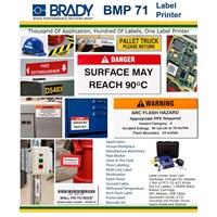 Jual Brady BMP71 Printer Label Mesin Label