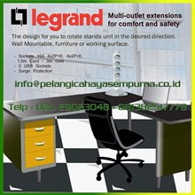 Stop kontak 4 dan 6 lubang Multioutlet sockets extensions desk table furniture sockets