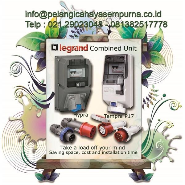 Legrand Combined Unit Tempra p17 Sockets Switch Interlock