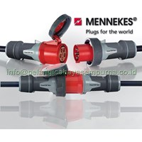 Mennekes Industrial Plug and Sockets Receptacle and plug CEE Mobile Sockets Panel Mounting Stop Kontak Industri