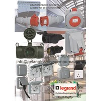 Legrand weatherproof rubber sockets outlet  Stop kontak tahan air plexo ip55 switch sockets