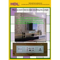 Multimedia Wall Panels Data Sockets HDMI VGA HD15 Audio Video Minijack USB TV Female
