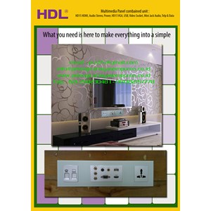 Multimedia Wall Panels Data Sockets HDMI VGA HD15 Audio Video Minijack USB TV Female