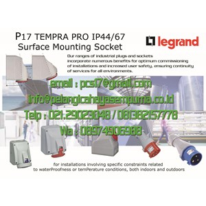 Legrand Surface mounting socket P17 IP44 / IP67 100/250V 380/415 V Stop Kontak Gondola
