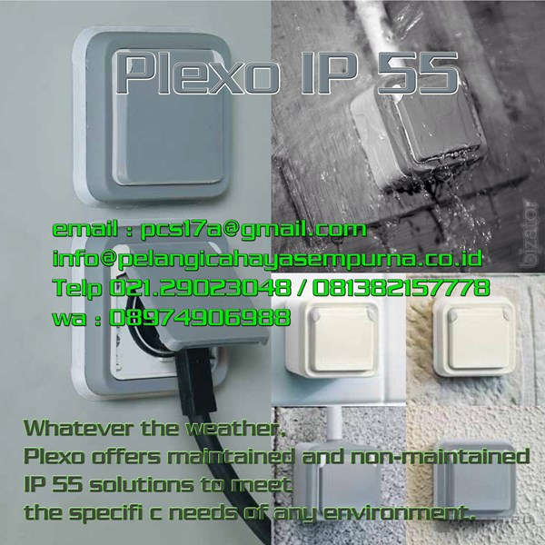 Legrand Sockets Plexo IP55 IK07 Stop Kontak Dinding Outbow Weatherproof